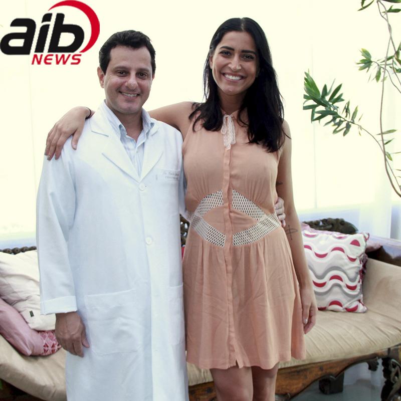 Portal AIB News: A atriz Maria Joana é a mais nova cliente do Dr. Cláudio Ambrósio.