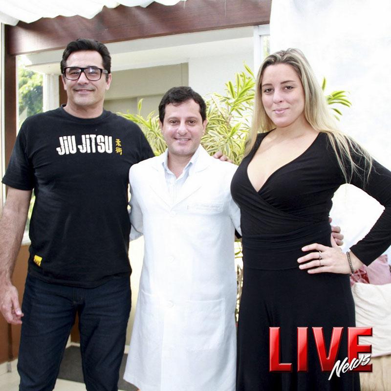 Portal Live News: Luciano Szafir e esposa Luhanna consultam com o médico das celebridades