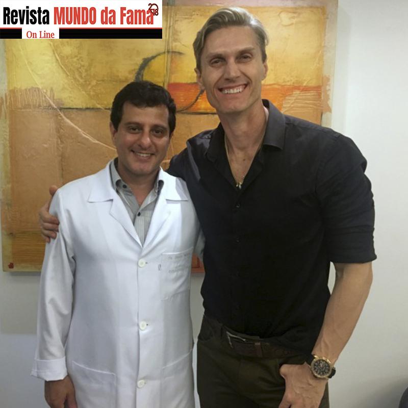 Reportagem Revista Mundo da Fama: André Segatti se cuida quando o assunto é saúde.